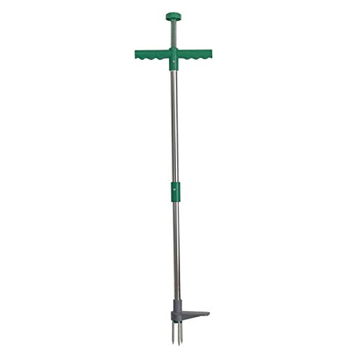 SNOWINSPRING Weed Puller,Stand Up Weeder,Lawn Weed Puller Tool,Portable Durable Garden Long Handle Root Puller Remover