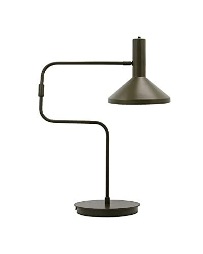 Lámpara de mesa, escritorio, verde militar.