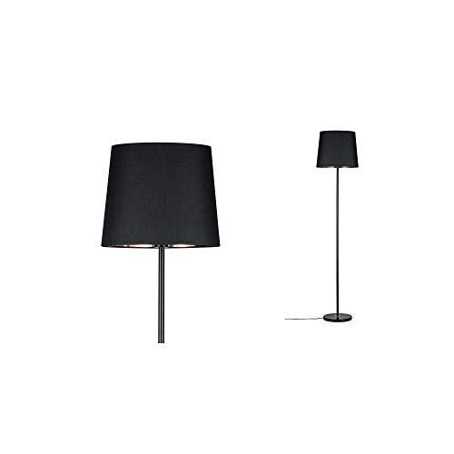 Paulmann 79612 Neordic Enja Stehleuchte max. 1x20W Stehlampe für E27 Lampen Standleuchte mit Stoffschirm Schwarz/Kupfer 230V ohne Leuchtmittel, Stoff