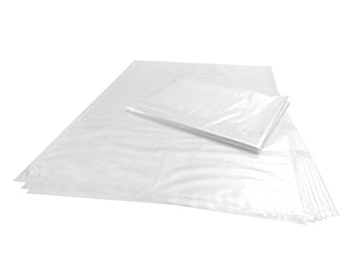 Wowfit 10 CT 30x40 inches 1.6 Mil Clear Plastic Flat Open Poly Bags Great for Proving Bread, Dough, Storage, Packaging and More (30 x 40 inches)