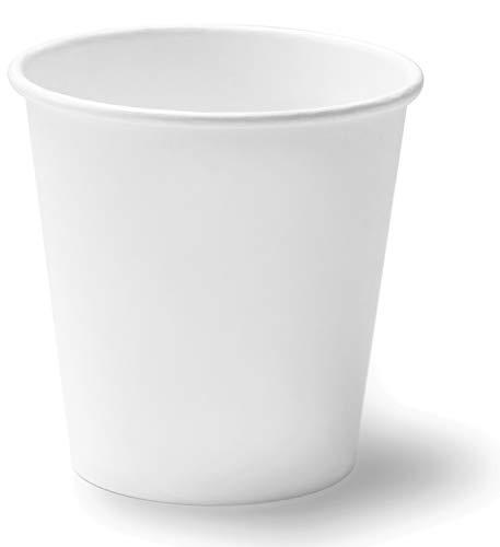 Mega Confezione da 1'000 Bicchieri in Carta 180ml Premium Riciclabili Monouso Biodegradabili Ecologico Compostabili - per Acqua caffè Thè Cioccolata Calda Cocktail Bevande Fredde (180ml (Bianco))