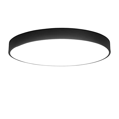 Led Lámpara De Techo Regulable Sala De Estar,Plafón De Techo Dormitorio,Iluminación De Techo Corredor 80CM negro Atenuación continua Lámparas ultrafinas simples