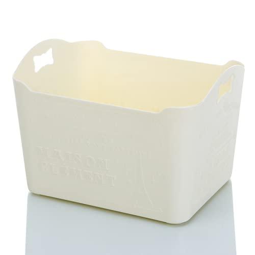 ZZCR Caja De Almacenamiento Multifuncional Elegante Caja De Almacenamiento De Letras Talladas Se Puede Utilizar En El Dormitorio El Baño O El Estudio 23.5 * 17.5 * 16
