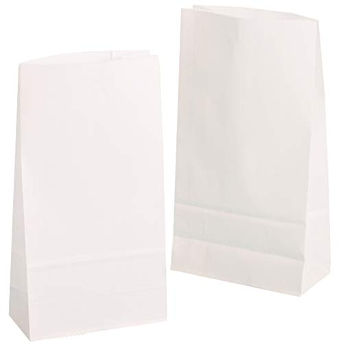 kgpack 100 STK. Papiertüten klein 9 x 16 x 5 cm Bodenbeutel, auch, Obstbeutel, Mitgebseltüten, Butterbrottüten, Süßigkeiten, Geschenkverpackung, Gastgeschenke Tüten aus Weiß Kraft Geschenkpapier