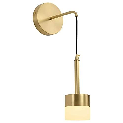 Luces de pared de montaje enjuague, moderno Smello Wall Sconce, Linterna de la pared de cobre de la sombra acrílica, 3 Color Temp 1 2W LED Lámpara de pared Luz de pared para la cama para sala de estar