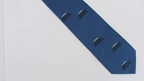 Zunftbedarfde Eisenbahn Geschenk Krawatte Dampflok blau
