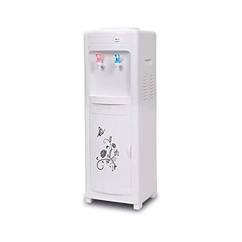HUAQINEI Dispensador de Enfriador para el hogar, máquina de Agua para Colocar en el Piso, con Mango Invisible, oficinas y Salas de reuniones, Color Blanco (tamaño: Hielo + Caliente)