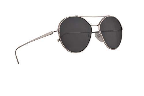 Prada PR56US gafas de sol w / 55mm de lente gris 1BC5S0 PR 56US SPR 56U SPR56U mujer Plata Grande