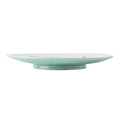 BESTonZON Vajilla de Cerámica Juego de Vajilla Rústica Vajilla de Porcelana de Cocina Plato de Comida Plato de Postre Regalo para Restaurante Snack Bar Hogar