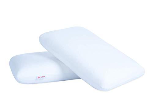 VintFlea Almohada de espuma viscoelástica para un sueño cómodo, tamaño king (paquete de 2)