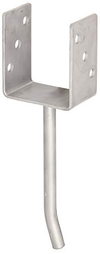 U-Shaped Post Anchor with Concrete Anchor Made from Round Steel, 214210