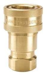 Parker BH6-60 Valved Hydraulic Quick Coupler 3/4 NPT Female Brass