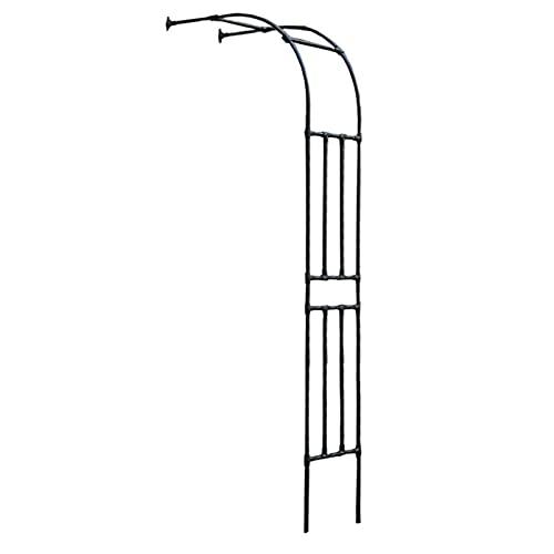 Arco de escalada de plantas Arco de jardín de rosas, arcos de cenador tubular de metal de media pared de 2,4 m, soporte de arco de metal a prueba de óxido para exteriores, decoración de bodas