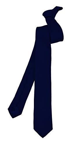 ADAMANT Schmale Herren Krawatte Dunkelblau 5cm Schmal