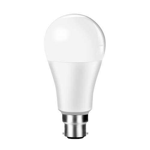 RZL LED Lights Ampolla de Bombilla Inteligente de 15W WiFi LED E27 B22 85-265V Lámpara de Tiempo...