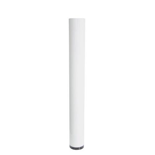 Kamino Flam Ofenrohr weiß, Rauchrohr aus Stahl für sichere Ableitung von Verbrennungsgasen, Kaminrohr mit Korrosionsschutz bis 300°C verwendbar, geprüft nach Norm EN 1856-2, Maße: L 1000 x Ø 120 mm