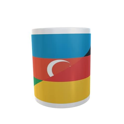 U24 Tasse Kaffeebecher Mug Cup Flagge Aserbaidschan-Deutschland