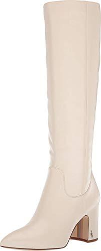 Sam Edelman Hai Modern Ivory Nappa Verona Leather 5 M