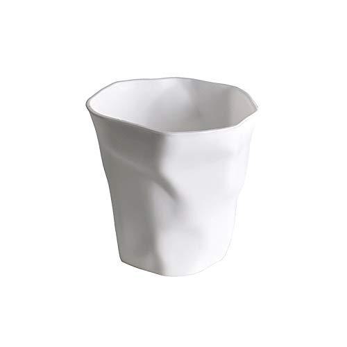 Portalápices Tenedor artístico creativo blanco, cubo de almacenamiento de papelería de aprendizaje, organizador de papelería de la taza de lápiz de escritorio para el accesorio de escritorio de oficin