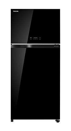 TOSHIBAGR-AG66INAXK661L2-StarInverterFrost-FreeDoubleDoorRefrigeratorsBlackGlass