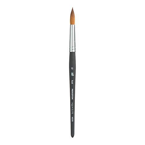 Princeton Aqua Elite NextGen Artist Brush, Series 4850 Synthetic Kolinsky Sable for Watercolor, Round, Size 12