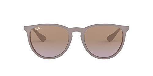 Ray-Ban Erika Gafas de sol, Marrón/Plata (Brown; Silver) (600068), con lente Marrón/Violeta Degradada (Brown/Violet Gradient)