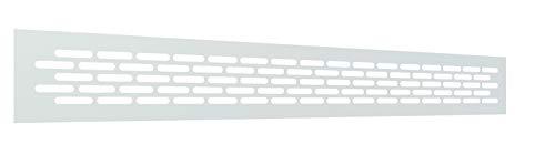 Rejilla Ventilacion Rectangular 60 X 484 mm Rejilla Ventilacion Horno Rejillas de Ventilacion Aluminio Rejillas para Chimeneas Rejilla Ventilacion Blanca (1 Pieza)