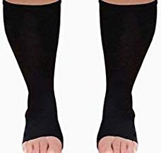 MICODEMA Compression Socks Toeless XWide - Arch and Ankle Support Band   Gradient Pressure 20mmHg Knee High Queen Plus Size Premium Hosiery   Medical Grade Soft Thick Cotton Men or Women no-Toe