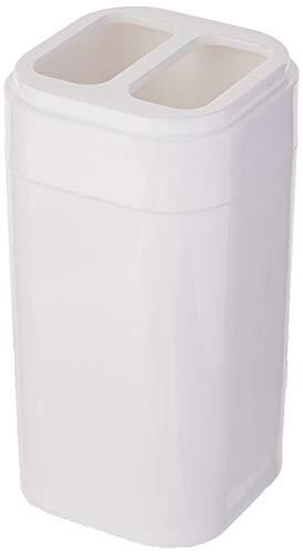 Porta Escova Splash 6,5 x 6,5 x 12,7 cm, Branco, Coza