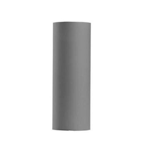 Stoffschirm Grau Ø23cm schmal Zylinder für Stehlampen E27 Lampenschirm LUNETA