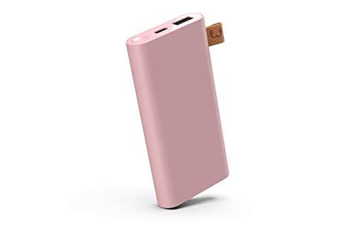 Fresh 'n Rebel Powerbank 6000 mAh USB-C | Portable charger - 2-ports USB-C & USB – Dusty Pink