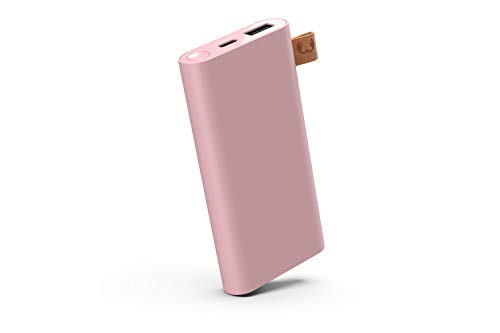 Fresh 'n Rebel Powerbank 6000 mAh USB-C | Tragbares Ladegerät/Externer Akku - 2-ports USB-C & USB – Dusty Pink