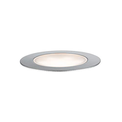 Paulmann Outdoor Plug & Shine Floor Eco IP65 3000K 1W 24V 93953 Luminaria empotrable LED, Exterior, proyector, iluminación de Suelo, 1.3 W, Plateado, 3 x 7 x 3 cm
