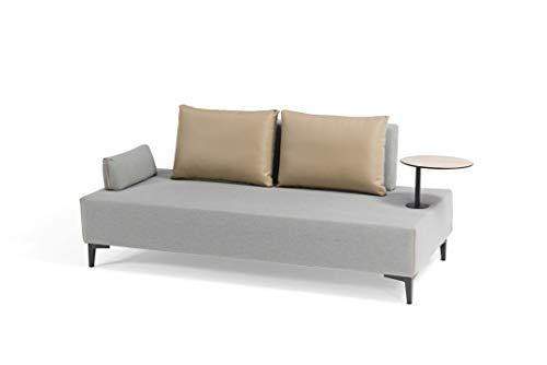 talfa Sofá Doble de Aluminio Gris, Acolchado, Freedom multifunción, sofá Doble.