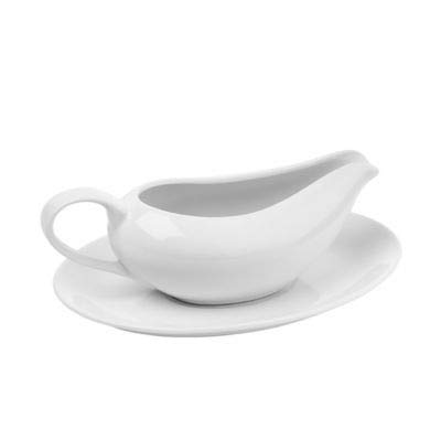 Lakeland Porcelain Gravy Boat and Saucer Set White – 500ml