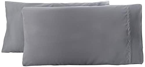 Amazon Basics Pillowcase, Gris Oscuro, 50 x 80 cm