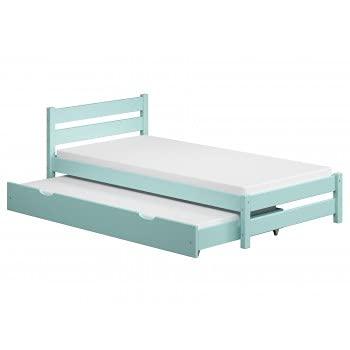 Children's Beds Home - Cama individual con nido - Simba para niños pequeños adolescentes - Tamaño 200x90, Color Turquesa, Colchón Ninguno