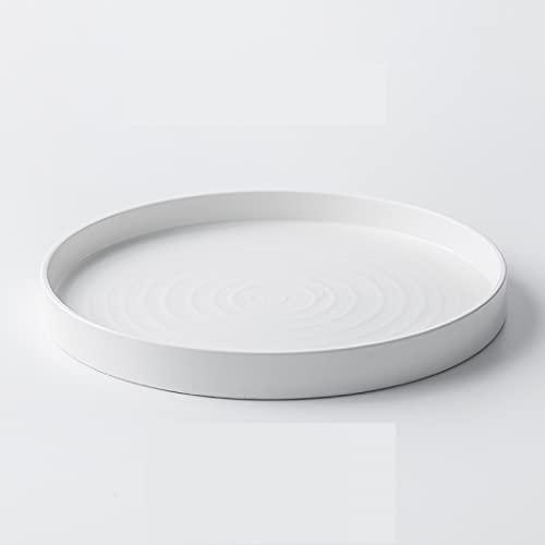 Juego de vajilla de 2 piezas para ensaladas, sopas, postres, cereales y pastas, servicio de mesa para fiestas, vajilla de porcelana premium, apto para lavavajillas (blanco, 10.2 pulgadas)