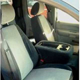 Durafit Seat Covers C1128 V1/V7 Chevy Silverado LS 40/20/40 Exact Seat Covers in Black/Gray Velour.