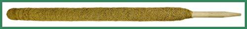 Novatool Pflanzstab Kokos 80 cm I Ø 45mm I verlängerbar I natürlicher Kokosfaser I Pflanzenhalter I Rankstab I Moosstab Kokosstab