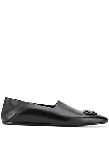 Balenciaga Luxury Fashion Herren 601255WA7221000 Schwarz Leder Mokassins | Jahreszeit Permanent