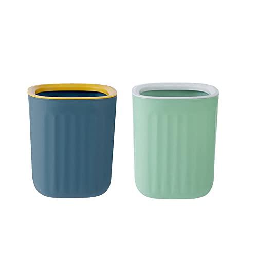 Kytpyi papelera de escritorio mini, 2 piezas 15x12.5cm mini papelera de mesa cubo de basura de mesa mini cubo de basura bote de basura pequeño para casa sala de estar cocina dormitorio baño