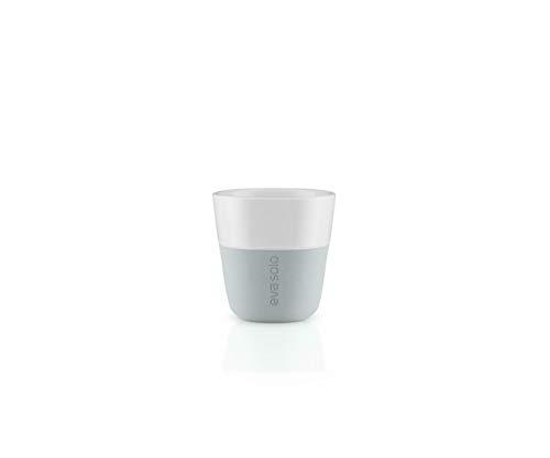 EVA SOLO 501044 Espresso-Becher, 2-teilig, Silikonschale, 80 ml, Porzellan, Marble Grau, 6 x 6 x 6 cm