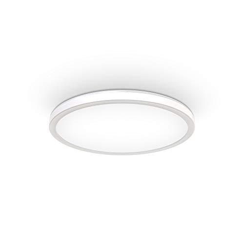 B.K.Licht 18 Watt LED Panel I 293x28mm DxH I Dimmbar I Ultra Flach I Indirektes Licht I Memoryfunktion I neutralweiße Lichtfarbe I 2.400lm I LED Deckenleuchte I Deckenlampe