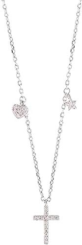 ZJJLWL Co., ltd Collar Mujer Collar Cruz Collar Micro- Set Collar Simple Temperamento Dulce Joyería