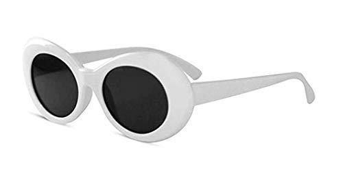 Nirvana Style Kurt Cobain Style Clout Sonnenbrille Brille Weiß Festival Brille