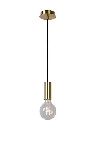 Lucide DROOPY - Pendelleuchten - Ø 9,5 cm - LED Dim. - E27 - 1x4W 2200K - Mattes Gold / Messing