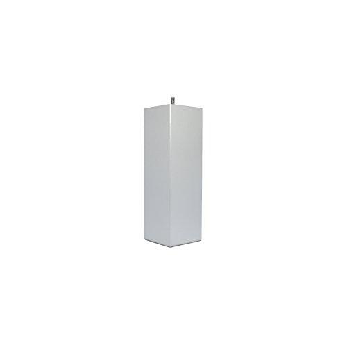 La Fabrique de Pieds Jeu de 4 Pieds de Lit, Bois, Laqué Alu, 25 x 8 x 8 cm