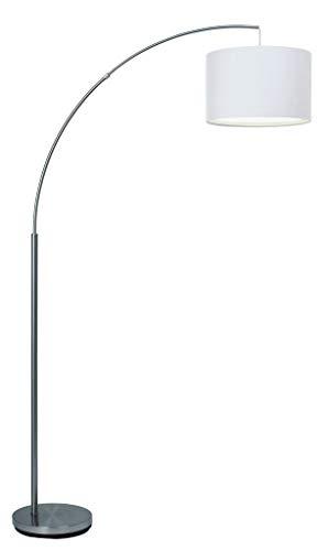 BRILLIANT 13258/05 Lampadaire blanc déporté CLARIE - E27 60w - Ampoule non incluse