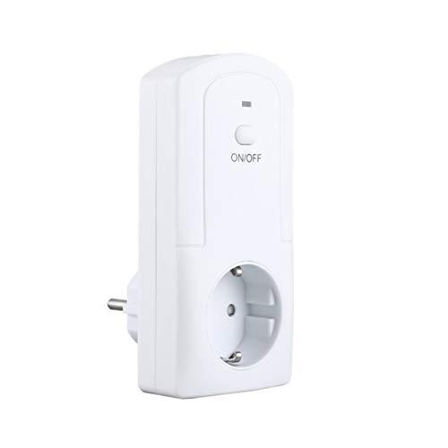 NewIncorrupt WiFi portátil Enchufe inteligente Enchufe inteligente Temperatura Humedad Temporizador inteligente Control remoto práctico